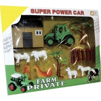 Set De Granja Tractor/animal/acces/ P667363 Caja Visor