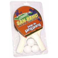 Juego D/ping Pong San Remo C/3 Pel/a9711 Clamshell