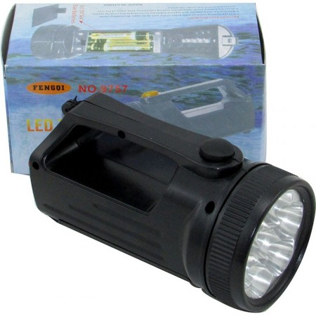 Linterna Doble  7 Led + 5 Led /plast./ Pilas/mp4073 Caja