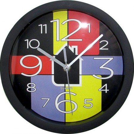 Reloj Pared 22cm Redondo Marco/col/fond/multicolor/mp5026 Caja