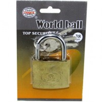 Candado Bronce  World Ball 40mm 46038 E/blister