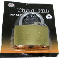 Candado Bronce  World Ball 75mm 46075   E/blister