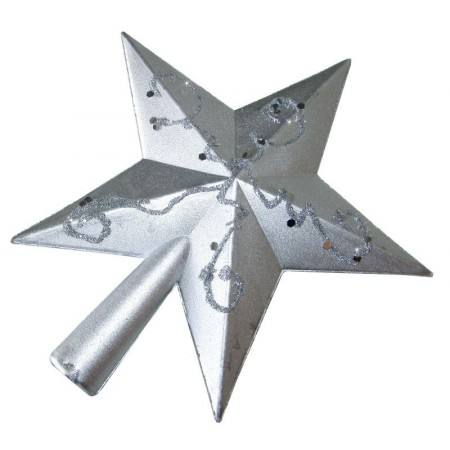 Puntal Estrella 15cm  Oro / Plata  Decorad/c/volum/ Mp4534 Bols