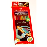 Lapiz Color Metalizado Faber X12  Eco.hex Estuche Carton