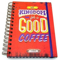 Cuaderno Anillado Linea Retro 14 X 20cm  Darling- Hard- Kingdom- Mood