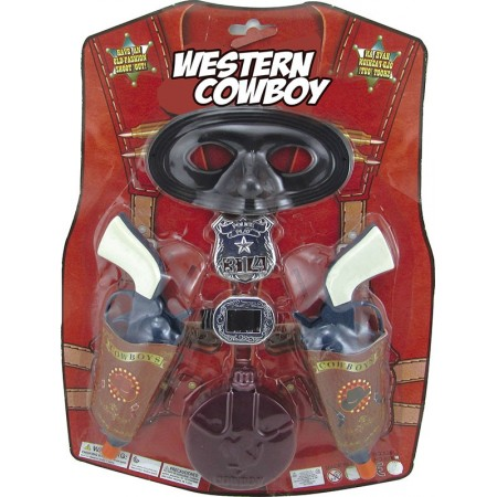 Set Cowboy Doble Pistola Mascar-cantimp- Hwa974284 Blister