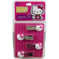 Acc.p/pelo Broches C/strass X4 Hello Kitty Shk 1331 E/bl