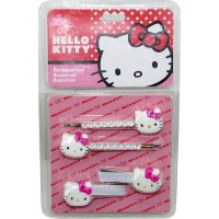 Acc.p/pelo Hebillas C/strass + Broches Hello Kitty Shk 1346 E/bl