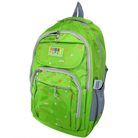 Mochila  Espalda 42cm  Sport Lona Color/estamp/sol/sign/mp4091