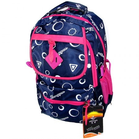 Mochila Espalda 46cm Longyao C/solap/ Estam/circ/form/color   Mp4880