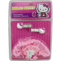 Acc. P/pelo Hello Kitty Broches C/strass Y Vincha Elast. C/moño Doble Shk 1332 E/blister