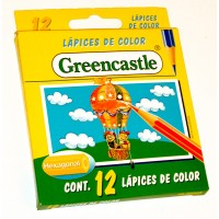 Lapiz Color Greencastle 12 Colores Corto 103002a