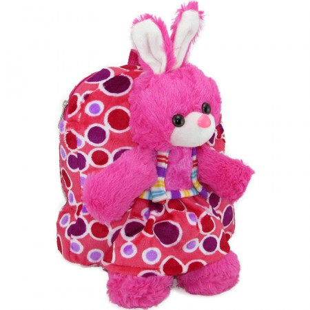 Mochila Infant. Peluche 33cm 4 Animales Mix/lunares/  Mp5624