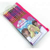 Lapices D/colores  X12unid Largo .barbie/5587 Estuche