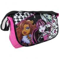 Morral C/solapa Monster High Pvc /brill/lentej/mmh114