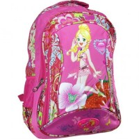 Mochila Espalda 45cm Fashion Lona Estampara Flor/imag/ Mp4085 1 Bols
