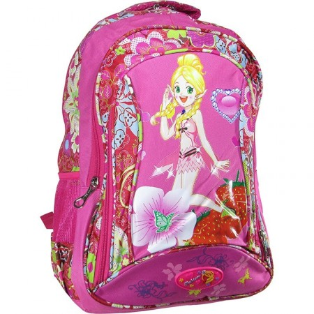 Mochila Espalda 45cm Fashion Lona Estamp/flor/imag/ Mp4085 1 Bols