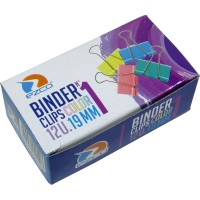 Binder Clips Color  Ezco 19 Mm Nª1 X 12unid Caja