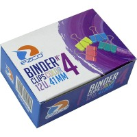 Binder Clips Color  Ezco 41 Mm Nª4  X 12unid Caja