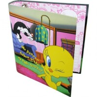 Carpeta Cartone 3a X 40 Tweety Con Brillo 78380.