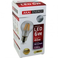 Lampara Led Akai Energy 6 Watt Bulbo Vintage 3000k/calida (3303) Caja