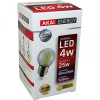 Lampara Led Akai Energy 4 Watt Gota Vintage 3000k/calida (3302) Caja