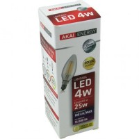 Lampara Led Akai Energy 4 Watt Vela Vintage 3000k/calida (3301) Caja