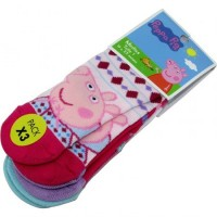 Pack Media Caña Comun  X3 Unid Peppa Pig Footy I18110 .01 Talle  1/2