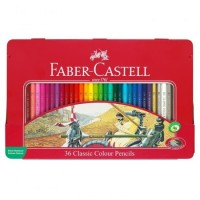 Lapiz Color Faber  X 36 Unid Hexagonal Lata 115886