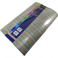 Goma Eva 60 X 40 X2.mm Glitter Film Paquet. X 10  Cuadraditos Multicolor