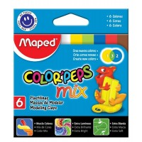 Plastilina Maped Colorpeps Extra Soft 13gr  X  6 Mix Color Surt.828101