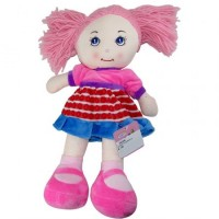 Muñeca  Artesanal 37 Cm Tela Pelo/lana/color/plush   Mp5119