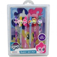 6 Gel Pen + Cuaderno My Little Pony Hlp09332