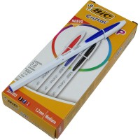 Boligrafo Bic Cristal Up Clasicos  1,2mm X12 Unid Color Surt.942003