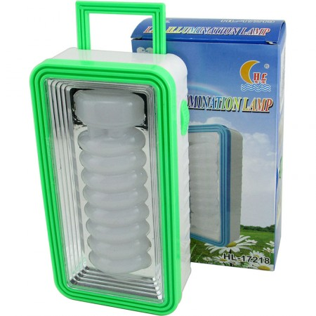 Linterna Rectangular 17cm Led Espiral  Para Colgar  Mp5510 Pilas