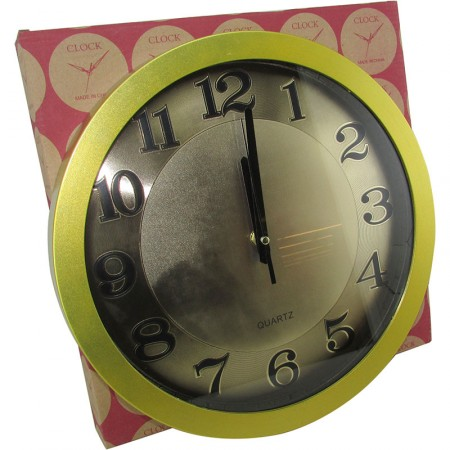Reloj Pared Redondo  30 Cm Metalizado Color Mp5561 Caja