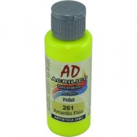 Acrilico Decorativo  Ad Amarillo Fluo   50ml   058727-261