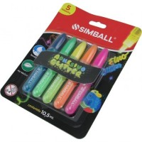 Adhesivo Simball  Glitter Fluo X 5 Unid Surtidos Color 0218020101