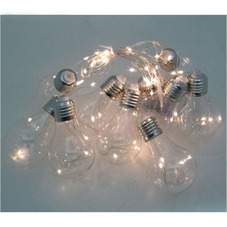Luces Led 2,8 Mt lampara X10 (total 100 Led)  Cajita Pvc Mp5828 Pilas