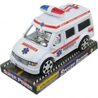 Ambulancia Emergencias  19 Cm Friccion P694157 Burbuja