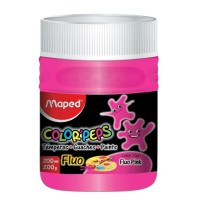 Tempera Pote 250gr Rosa Fluo  Colorpeps  826578