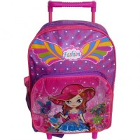 Mini Mochila Carro Infantil  33cm Lona/estampara Mod/surt/ Mp5698
