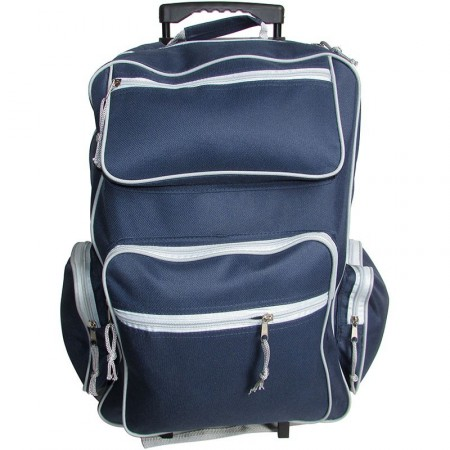 Mochila  Carro 19x14x7  2/bols/fte Cordu/color Surt.4 Ruedas Mp5800
