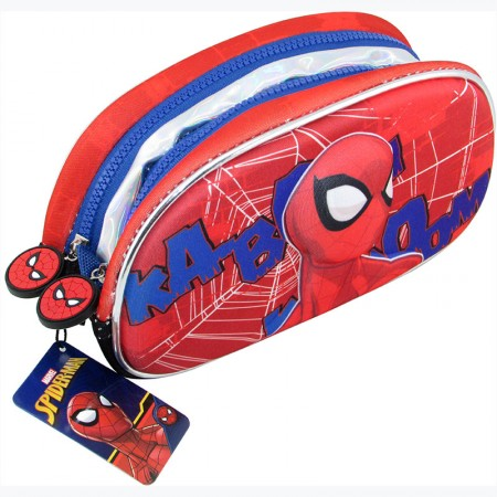 Cartuchera Neoprene Spiderman  Figura 3d / 2 Cierres Ha114
