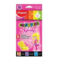 Plastilina Maped Colorpeps Extra Soft 26gr X 6 Fluo Surt.girly  828502