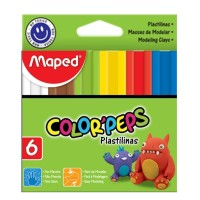 Plastilina Maped Colorpeps 20gr X 6 Colores Surt.827101