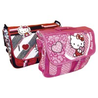 Maletin Lona Hello Kitty Mk 847 Corazon/apliq/muñec/bord