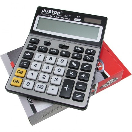 Calculadora Justop 12 Digitos T.jp-625 Gran Display  Electronico. Dual Caja