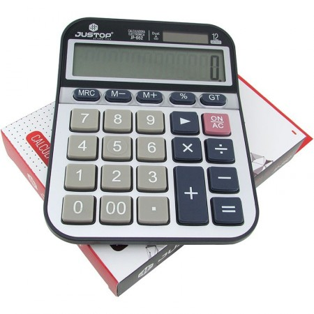 Calculadora Grande. Justop Jp-662 8digitos Gran Display Dual En Caja