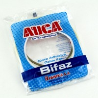 Cinta Auca Doble Faz Transparente 12mm X 25mts